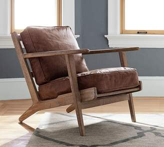 Pottery Barn Raylan Leather Armchair
