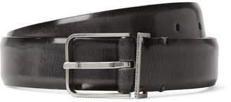 Maison Margiela 3cm Black Polished-Leather Belt