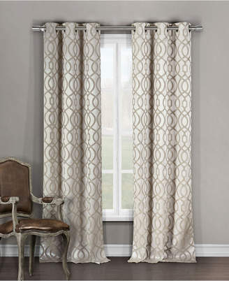 "Harris 36"" x 84"" Trellis Print Blackout Curtain Set"