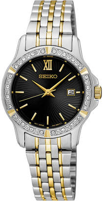 Seiko Women's Special Value Two-Tone Stainless Steel Bracelet Watch 28mm SUR730 $260 thestylecure.com