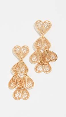 Mallarino Abanico Heart Earrings