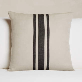 James Perse (ジェイムス パース) - James Perse PATIO STRIPED LINEN EURO PILLOW - 26 X 26