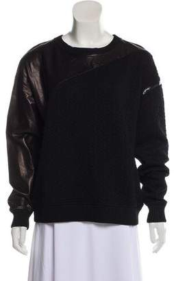 Ohne Titel Leather-Accented Textured Sweater w/ Tags