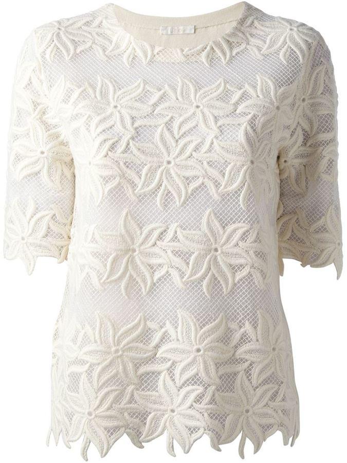 Chloé floral lace t-shirt