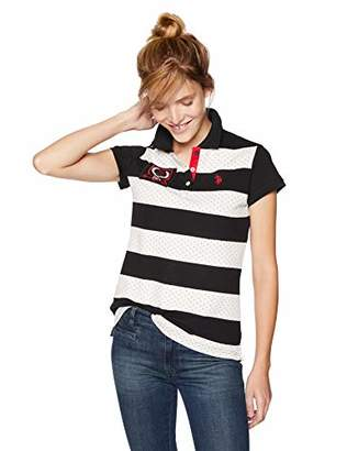 U.S. Polo Assn. Women's Short Sleeve Stripe Polo Shirt