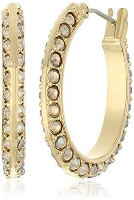 "Diane von Furstenberg Atlantis"" Pave Oval Hoop Earrings"