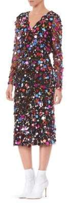 Carolina Herrera Embellished Wrap-Dress