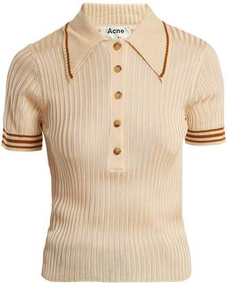 Acne Studios Shanita ribbed-knit polo-shirt