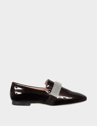 Christopher Kane Crystal band patent loafer