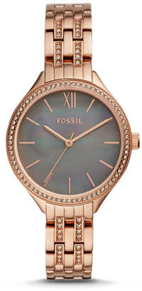 Fossil Suitor Three-Hand Rose Gold-Tone Stainless Steel Watch