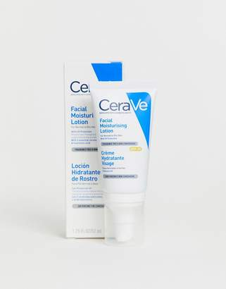 CeraVe AM lightweight hydrating facial moisturising lotion for normal to dry skin SPF 25 52ml