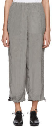 Comme des Garcons White and Black Mix Check Trousers