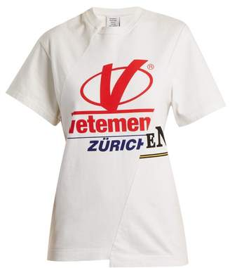 Vetements Zurich Reconstructed T Shirt - Womens - White