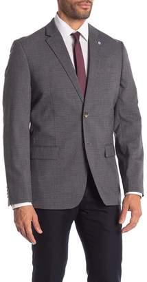 Ben Sherman Dacre Blue Grey Burgundy Check Two Button Notch Lapel Sport Coat