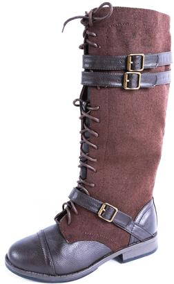 Bamboo Lace-Up Tall Boot $49.99 thestylecure.com