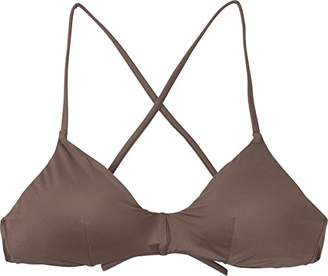RVCA Women's Solid Cross Back Bikini Top