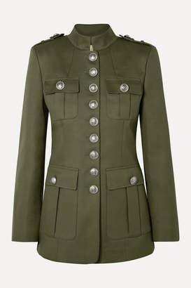 Michael Kors Cotton-twill Jacket - Army green