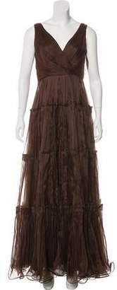 Oscar de la Renta Silk Sleeveless Gown