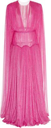 Emilia Wickstead Leonita Cape Metallic Gown