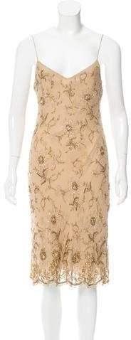 Ralph Lauren Collection Embellished Silk Dress