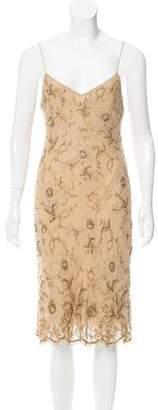 Ralph Lauren Embellished Silk Dress