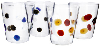 Pols Potten Lemonade Tumblers - Coloured Dots - Set of 4