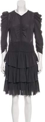 Isabel Marant Silk Ruffle-Accented Dress