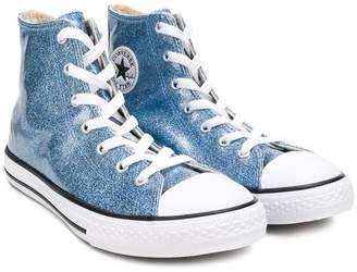Converse (コンバース) - Converse Kids TEEN glitter detail hi-top sneakers