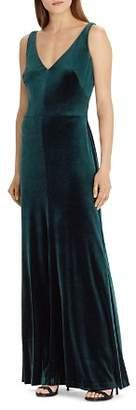 Ralph Lauren Velvet Sleeveless Gown
