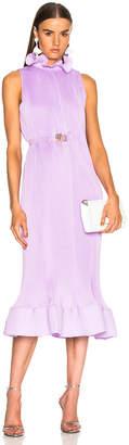 Tibi Sleeveless Belted Dress in Lavender | FWRD