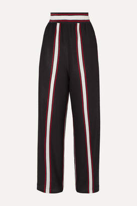 Golden Goose Sophie Striped Lurex Wide-leg Pants - Navy