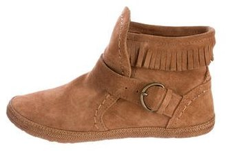 UGG Australia Round-Toe Suede Booties $95 thestylecure.com