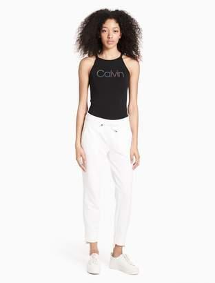Calvin Klein logo keyhole bodysuit
