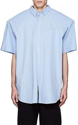 Vetements Men's Biker Padded Cotton Oversized Shirt