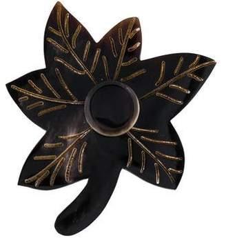 Marni Horn Leaf Brooch