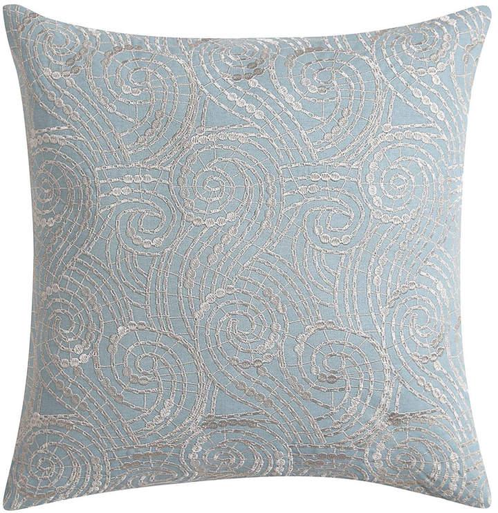 Blue Lace Ombre Square Pillow