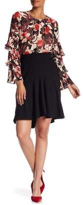 Nanette Lepore NANETTE Hi-Lo Ruffle Skirt