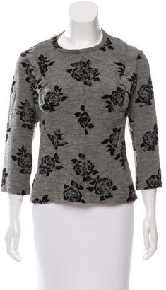 Junya Watanabe Wool Bow-Accented Top $200 thestylecure.com