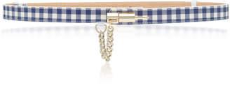 MAISON BOINET Gingham Leather Belt
