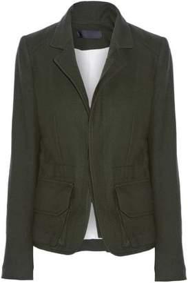 Haider Ackermann Felt-Trimmed Wool Jacket