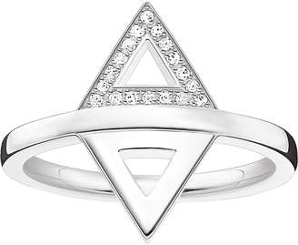 Thomas Sabo Triangle sterling silver and diamond ring