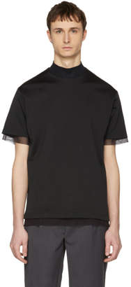 Kolor Black Mesh T-Shirt