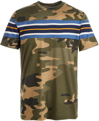 American Rag Men's Camouflage Stripe T-Shirt, Created for Macy's
