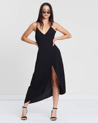 Missguided Strappy Split Front Midi Dress