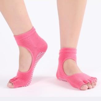 Unbranded Non-Slip Pilates Socks-Pink