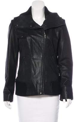 Andrew Marc Leather Long Sleeve Jacket