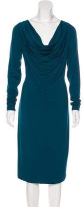 Jean Paul Gaultier Long Sleeve Midi Dress