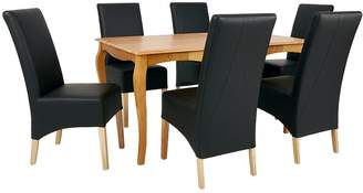 Very Deaves 150 cm Solid Wood Dining Table + 6 Chairs