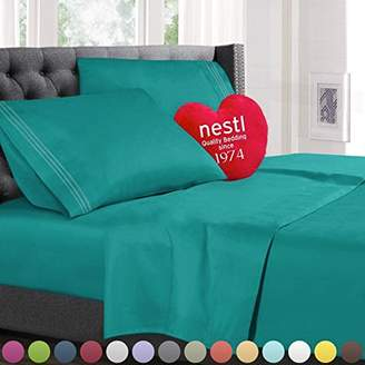 Queen Size Bed Sheets Set Teal