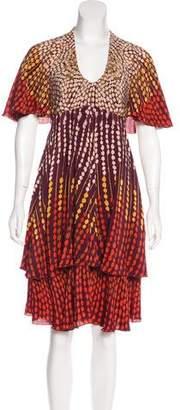 Anna Sui Printed Midi Dress